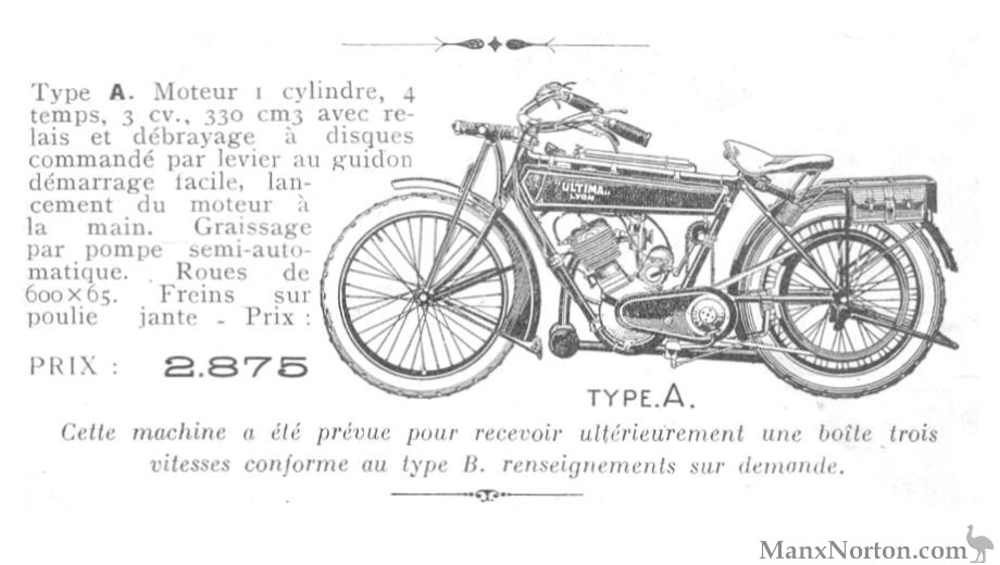 Ultima 1928 330cc Type A