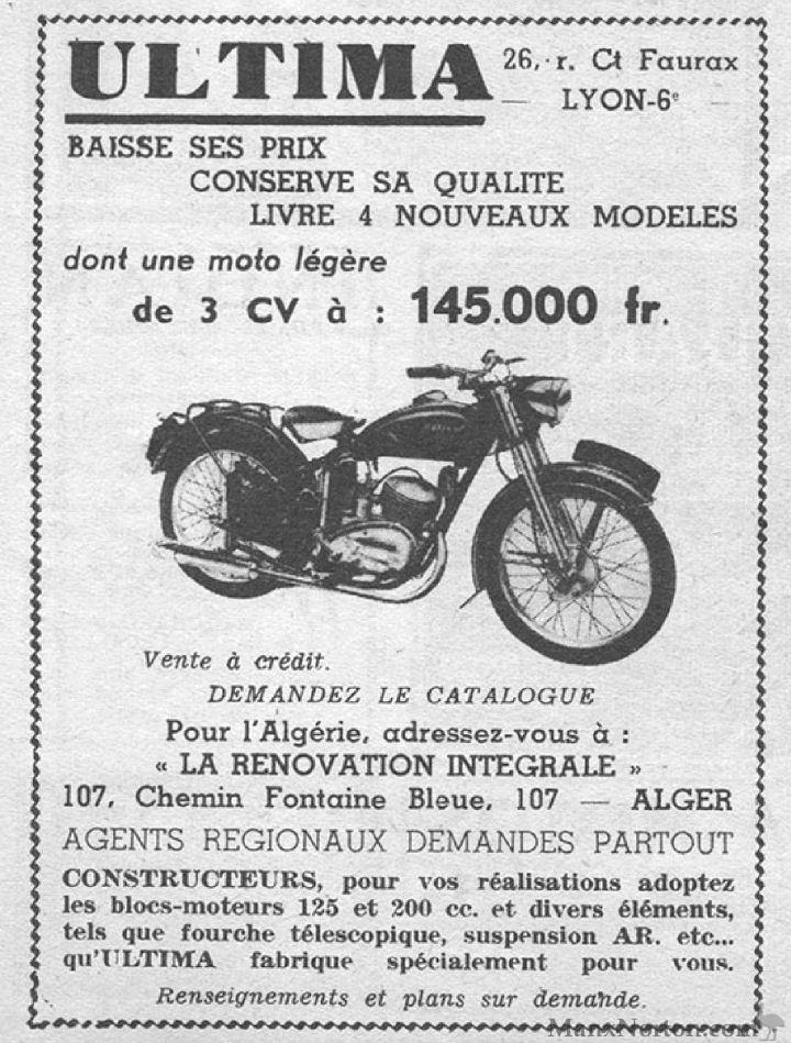 Ultima 1953 125cc & 200cc