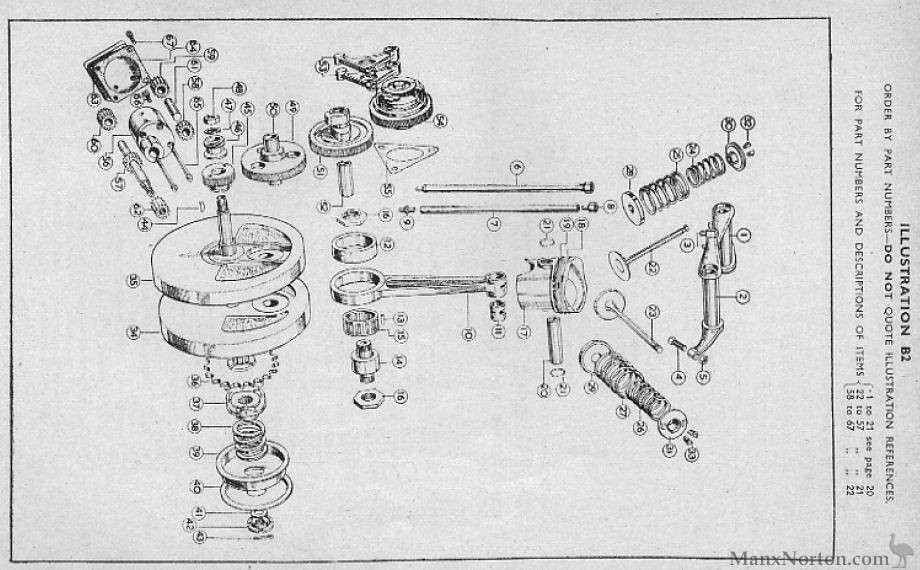 Velocette 1954 MAC Crankshaft Diagram
