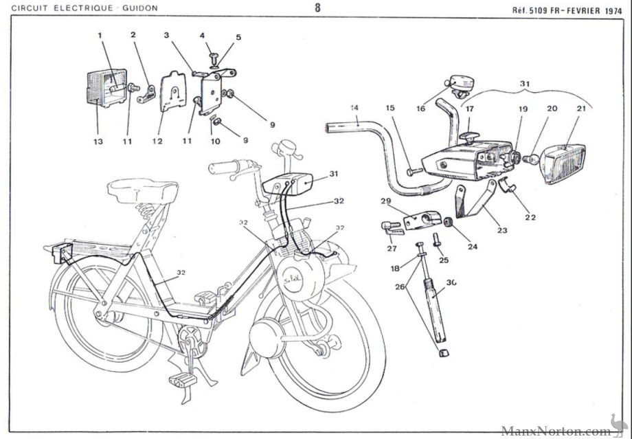Velosolex 1974 Electrical Components