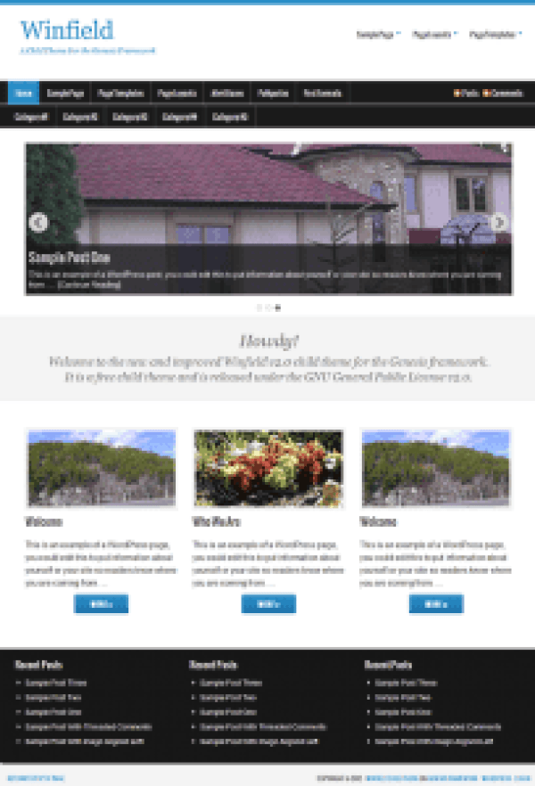 winfield free wordpress theme