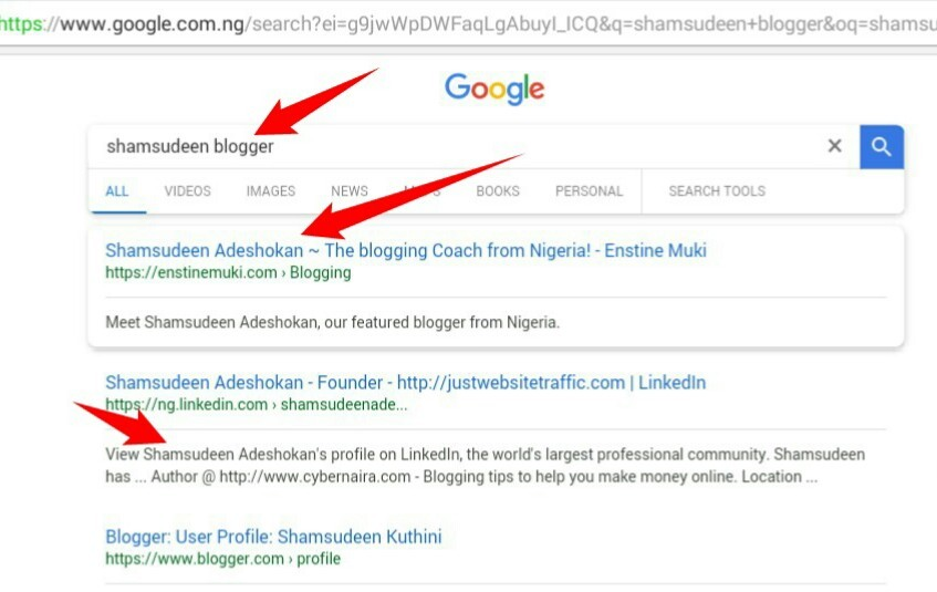 """Google search result for the query """"Shamsudeen blogger"""""""