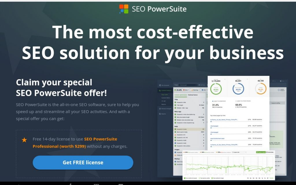 SEO PowerSuite Free Trial