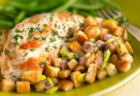 one dish chicken and stuffing-baked