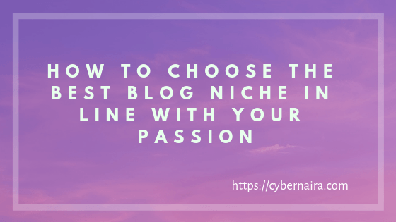 How to Choose the Best Blog Niche in Line With Your Passion