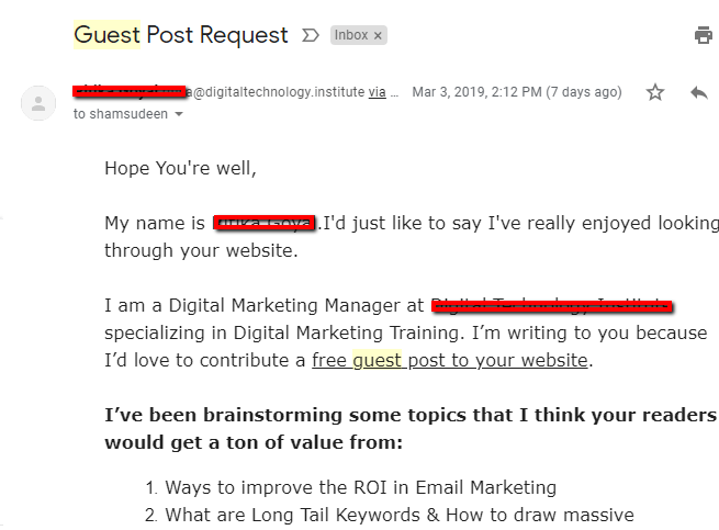 guest post email