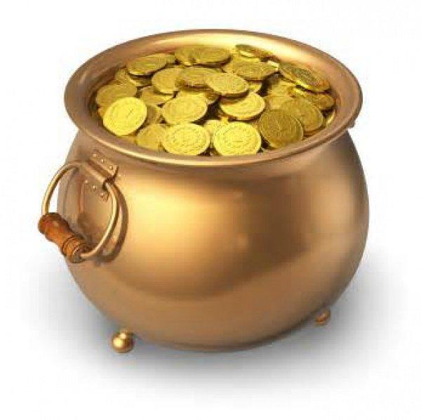 golden pot with money