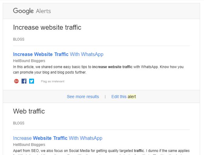 Google alert email - shamsudeen