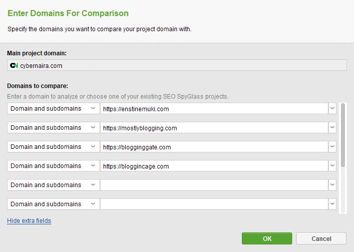 competitor comparison chart