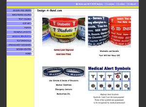 custom silicone diabetes wristband
