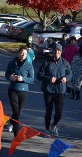 Ben and I finishing a 5K.