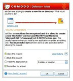 Comodo Firewall 3 Defense Alert