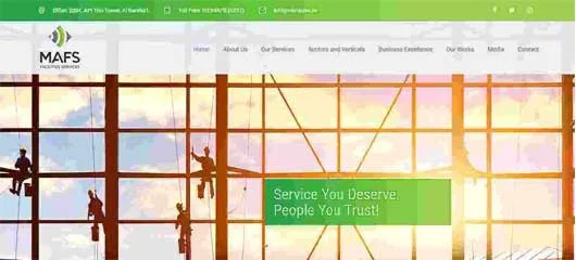 Web design of Cleaning company