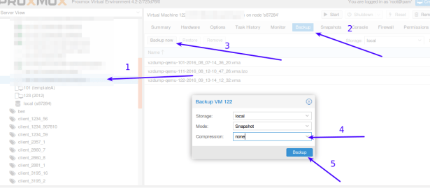 How to backup and transfer a Proxmox VM to another Proxmox Node