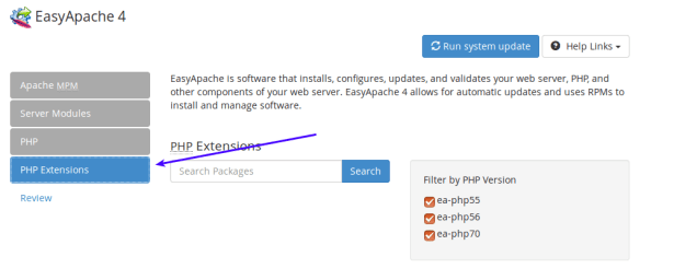 select-php-extensions