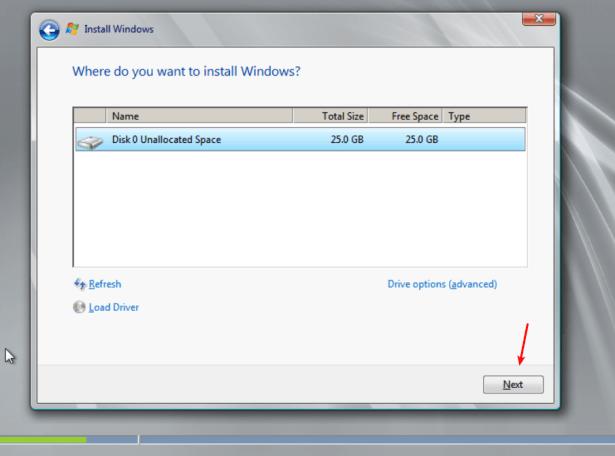 Create Windows Server 2008 Virtual Machine with Drivers on