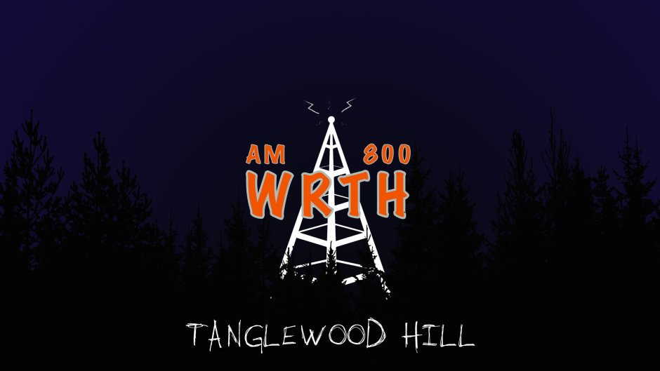 WRTH Tanglewood Hill - A ghostly radio tower broadcasts above a dark forest.