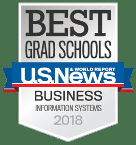 U.S. News & World Report Best Grad Schools: Business Information Systems, 2018