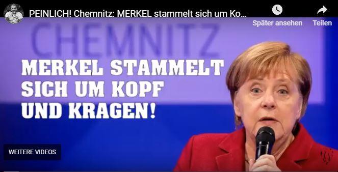 PEINLICH! Chemnitz: MERKEL stammelt sich um Kopf und Kragen!