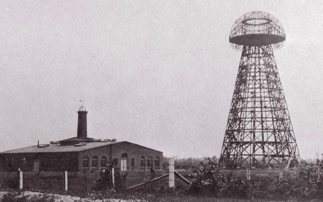Teslas Turm zur Energieübertragung