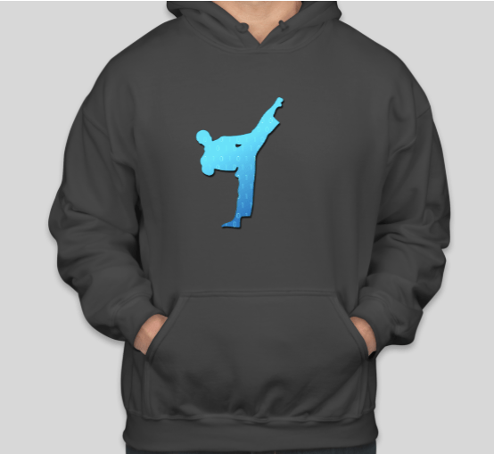 Cyber Taekwondo Hoodie w/Half Logo