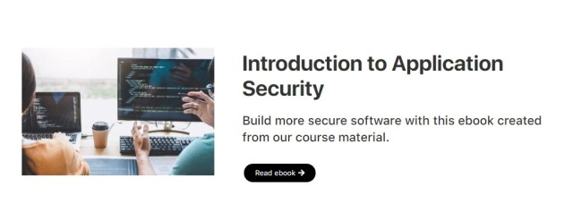 Free introduction to application security ebook download