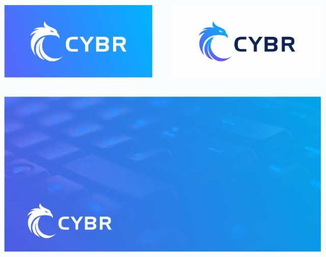 Cybr logo - use appropriate color based on background