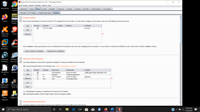 Configuring Burp Suite to use a loopback address