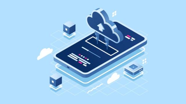 Mobile data storage illustration