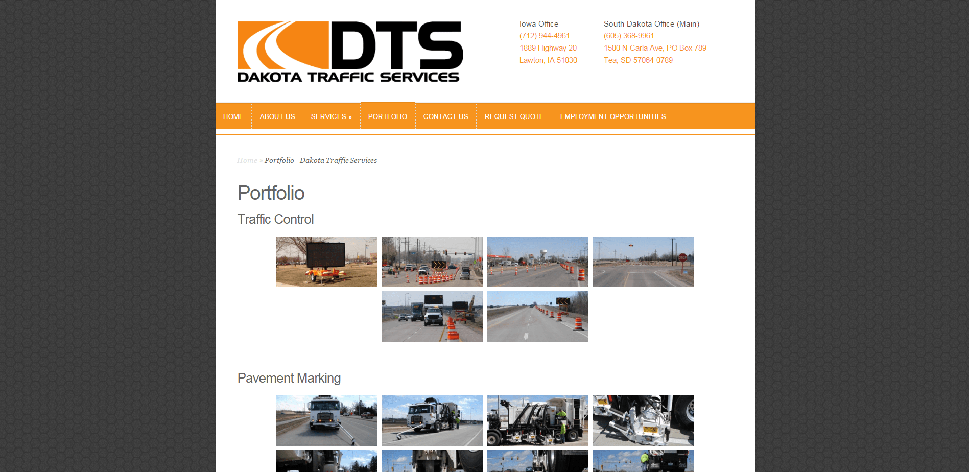 Portfolio   Dakota Traffic Services