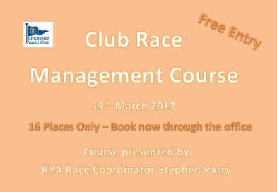 Club Race Management Course 11th March