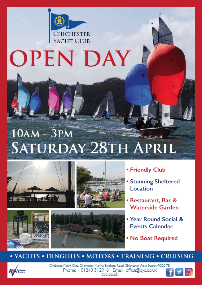 CYC Open day 28th April 2018