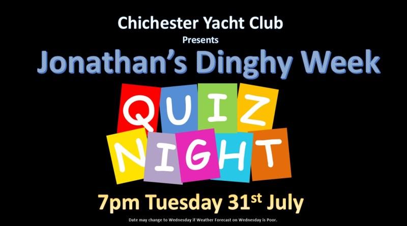 Jonathan's Quiz Night – 31st July