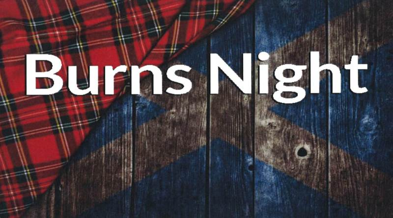 Burns Night Supper 25th January 2019