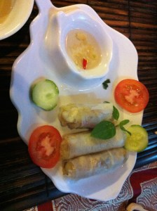 I prefer these fresh spring rolls to the fried ones.