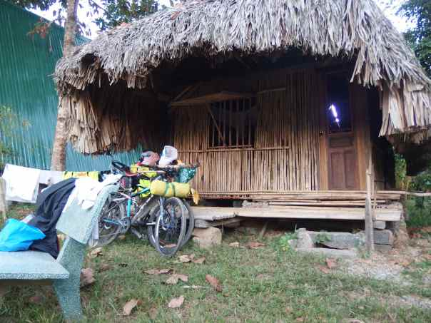 Our bamboo hut.