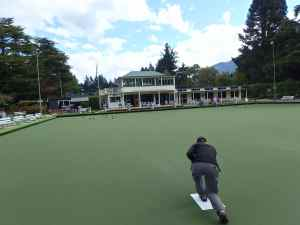 Eric playing bowls.