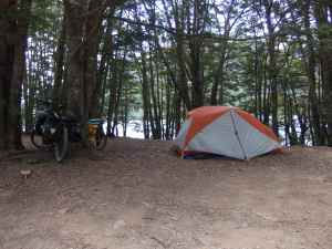 Campsite at South Malvora Lake