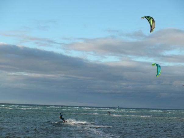 Kite surfing near Rye.