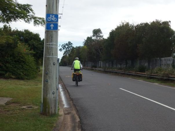 Found the blue bike sign less than 500 km from the hotel.