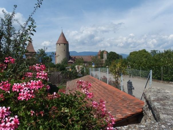 The walled city of Estavayer-le-lac