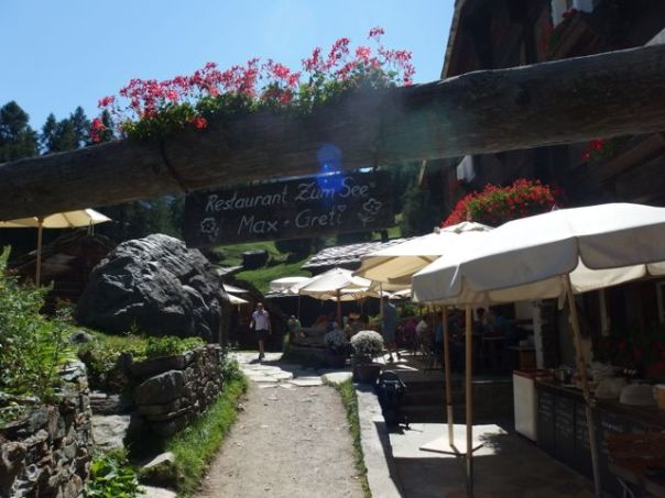 This restaurant was a 45 minute hike up the mountain. It would be fun to ski down to it in the winter.