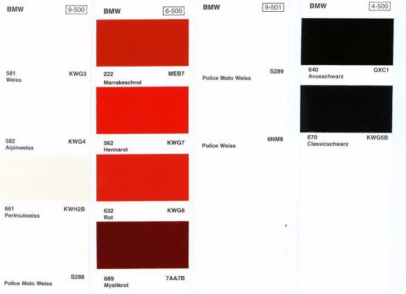 Bmw Cable Color Codes