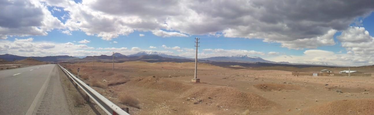 Steady climb towards Delijan and rougher skies