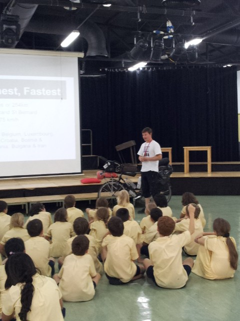 One of three presentations to a great bunch of 8 - 12 year old's at Lara's School.