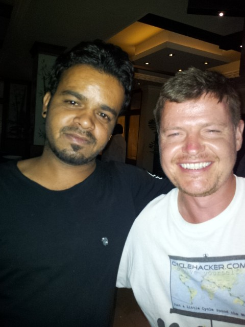 One of the chaps I met in Indore. We tried this shot a couple of times but my eyes were like a magnet to the flash.