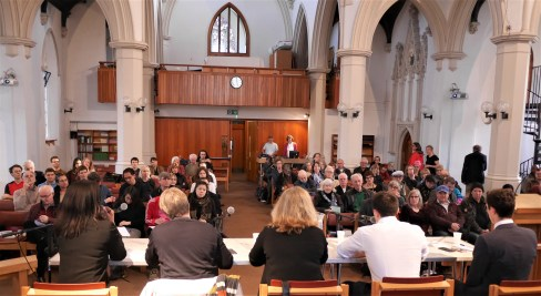 Transport Hustings 2018 over the heads of speakers