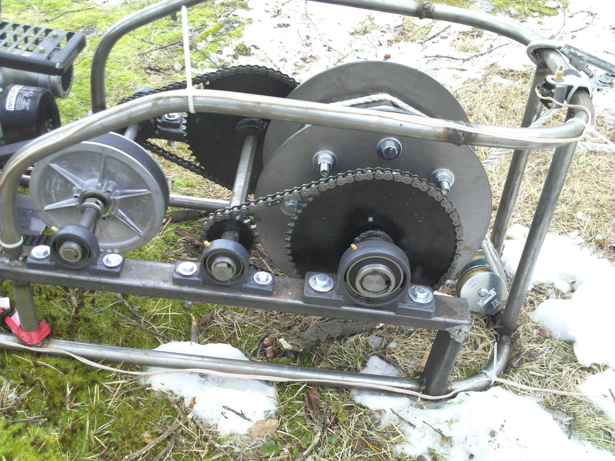 Snow Sled Winch Project  CycleKartingcom  Cycle Karts