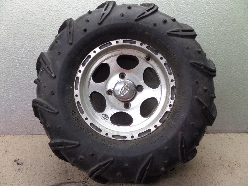 hight resolution of details about 2002 yamaha grizzly 600 4x4 itp right front wheel rim