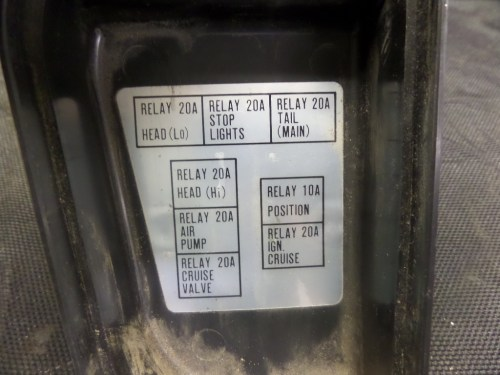 small resolution of 1988 honda gl1500 goldwing fuse box cover and other used motorcycle parts motoplane parts